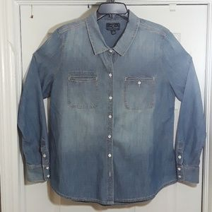 Lucky Brand Denim Button Down Men's Shirt